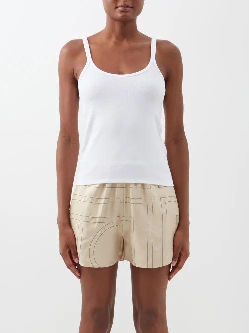Ace & Jig - Clifton Striped Cotton Blend Top - Womens - Beige Multi