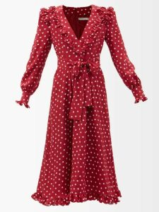 By. Bonnie Young - Neck Tie Silk Chiffon Dress - Womens - Green
