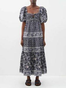 Calvin Klein 205w39nyc - Ruffle Trimmed Drawstring Neck Top - Womens - Black