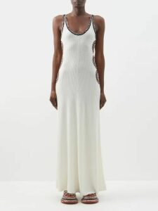 Raey - Denim Jersey T Shirt Dress - Womens - Indigo