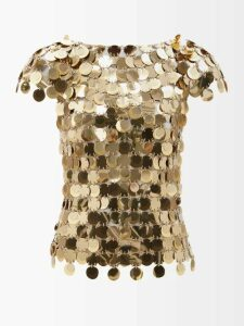 Isabel Marant Étoile - Oria Gathered Cotton Mini Dress - Womens - Navy