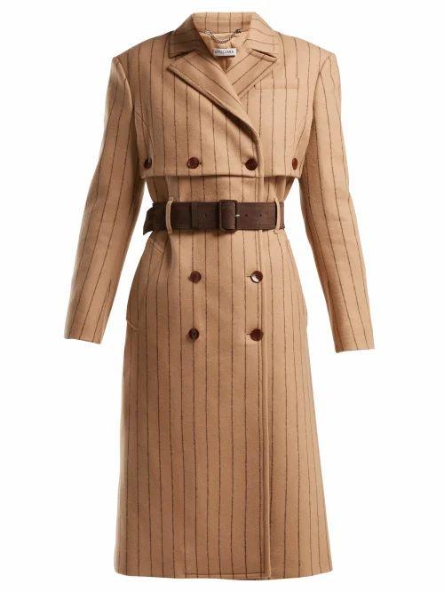 Altuzarra - Higgins Pinstriped Double Breasted Wool Blend Coat - Womens - Beige Stripe