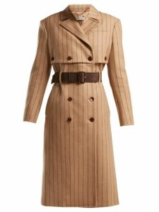 Altuzarra - Higgins Pinstriped Double Breasted Wool Blend Coat - Womens - Beige Stripe