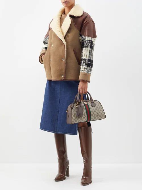 Bottega Veneta - Shaggy Oversized Coat - Womens - Mid Green