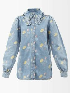 Molly Goddard - Susanne Shirred Taffeta Mini Dress - Womens - Pink
