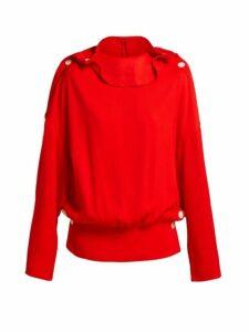 A.w.a.k.e. Mode - Button Trim Ribbed Top - Womens - Red