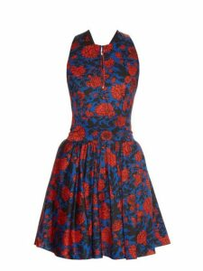 Sophie Theallet - Jeanne Floral Print Dress - Womens - Blue Multi
