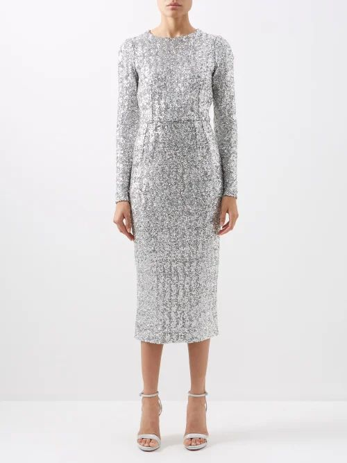 Altuzarra - Maria Tie Dye And Check Print Shirtdress - Womens - Blue Multi