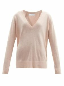 Raey - V Neck Fine Knit Cashmere Sweater - Womens - Nude