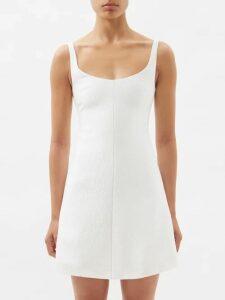 Mary Katrantzou - Verdi Swan Jacquard Mini Dress - Womens - Gold Multi