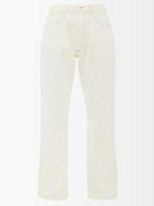 Maison Margiela - Ruffled Sleeve Bias Cut Layered Chiffon Dress - Womens - Nude