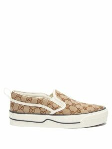 Valentino - Lipstick Print Silk Georgette Dress - Womens - Red Print