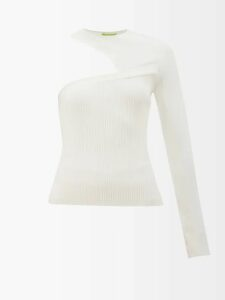 Valentino - Pleated Silk Crepe De Chine Blouse - Womens - Pink