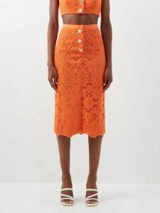 Claire Barrow - Mouse Monkey Print Silk Satin Top - Womens - Light Pink