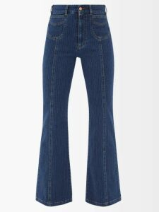 Chloé - Flecked Cotton Blend Shirt - Womens - Beige Multi
