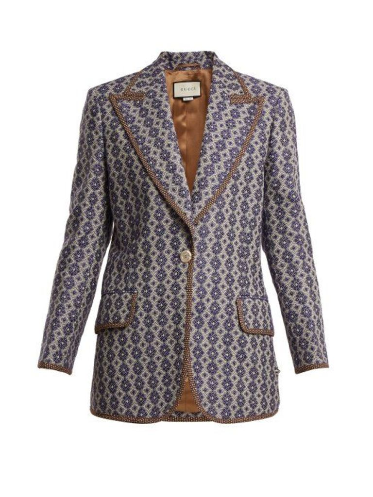 Gucci - Single Breasted Jacket - Womens - Blue