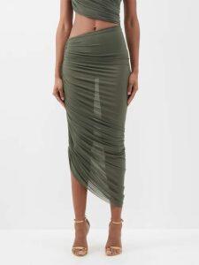 Stella Mccartney - Round Neck Cocoon Long Sleeved Dress - Womens - Cream