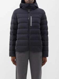Erdem - Orla Grosgrain Trimmed Floral Jacquard Top - Womens - Dark Blue