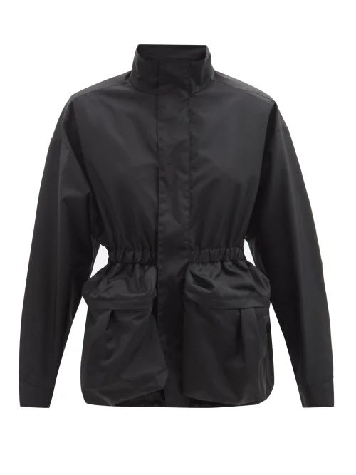 Erdem - Yasmine Floral Embroidered Duchess Satin Gown - Womens - Black Multi