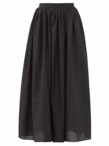 Vetements - Hooded Cotton Blend Jersey Sweatshirt Dress - Womens - Navy