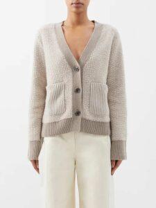 Vilshenko - Alisanna Ruffle Trimmed Silk Dress - Womens - Blue Multi