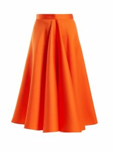 Maison Rabih Kayrouz - High Waisted Satin Full Skirt - Womens - Orange