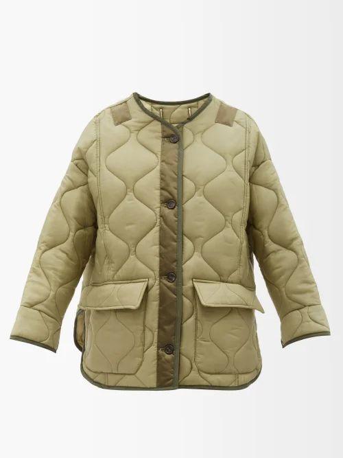 Rockins - Ruffle Detail Striped Cotton Blouse - Womens - Blue Stripe