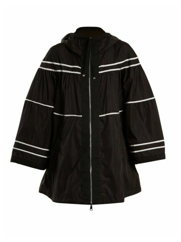 Moncler - Lazuli Striped Raincoat - Womens - Black White