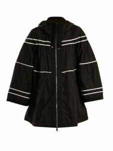 Moncler - Lazuli Striped Raincoat - Womens - Black White