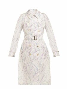 Max Mara - Giro Trench Coat - Womens - Grey Print
