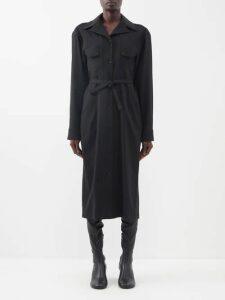 Molly Goddard - Erin Ruffle Trimmed Silk Organza Dress - Womens - Black