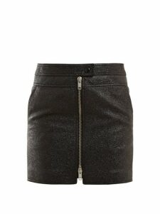 Givenchy - Textured Leather Mini Skirt - Womens - Black