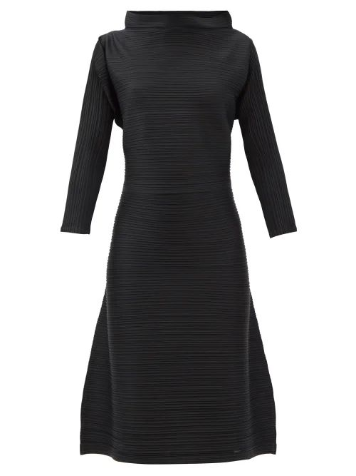 By Walid - Hazy-jungle Double-breasted Coat - Womens - Beige Print