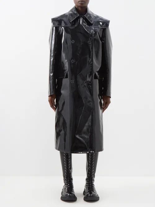Redvalentino - Floral Embroidered Cotton Mesh Dress - Womens - Black Multi