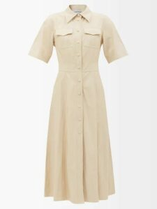 Mm6 Maison Margiela - Smocked Checked Twill Dress - Womens - Black White