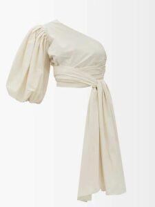 Dolce & Gabbana - Ruffled Floral Print Silk Chiffon Midi Skirt - Womens - White Multi