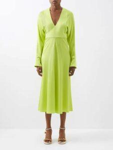 Msgm - Floral Print Cotton Shirtdress - Womens - Black Multi