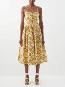 Mary Katrantzou - Maar Chevron Stripe Organza Gown - Womens - Multi