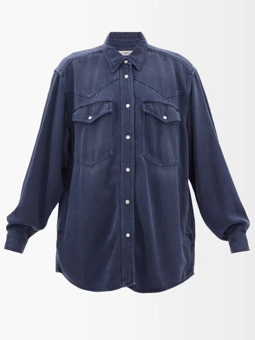 Hillier Bartley - Floral Print Silk Kimono Jacket - Womens - Pink Print