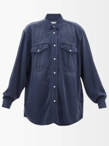 Hillier Bartley - Floral Print Silk Kimono Style Jacket - Womens - Pink Print