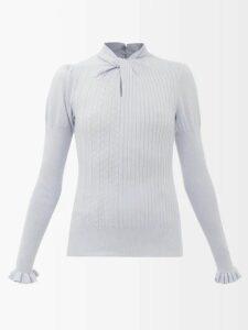Chloé - Belted Wool Coat - Womens - Brown Multi