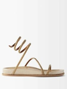 Elie Saab - Lace Trimmed Silk Blend Evening Gown - Womens - Light Pink
