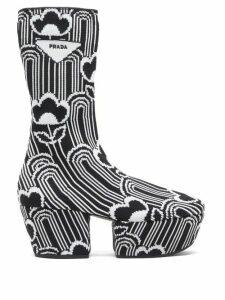 Prada - Morocaine Primrose Floral Print Silk Dress - Womens - Multi