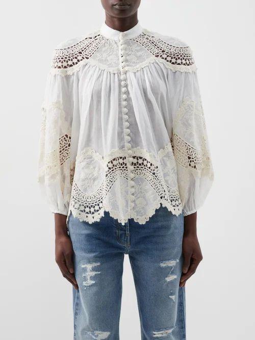 Erdem - Gwendoline Keiko Marble Print Silk Dress - Womens - Multi