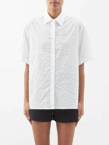 Erdem - Neville Hideko Print Stand Collar Silk Dress - Womens - Pink Print