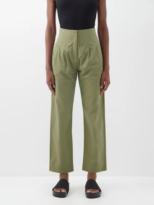 Sea - Sofie Lace Trimmed Cotton Top - Womens - Navy