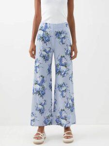 Roksanda - Mihara Striped Silk Satin Dress - Womens - Red Stripe