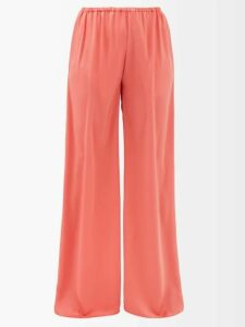 Sies Marjan - Ida Pleated Satin Dress - Womens - Dark Orange