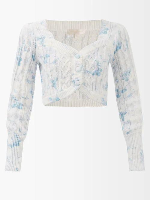 Calvin Klein 205w39nyc - Liberty Floral Print Silk Skirt - Womens - White Multi