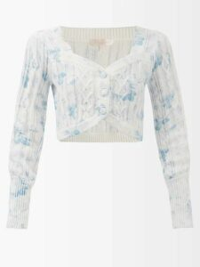 Calvin Klein 205w39nyc - Liberty Floral Print Silk Skirt - Womens - White Multi